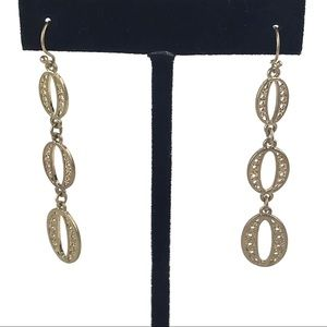 Stella & Dot Kimberly Gold Drop Earrings